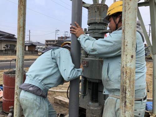 熊本 中山ボーリング さく井 井戸 水槽清掃 法定清掃 ボーリング